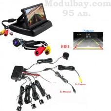 Парктроник с 4 сензора камера и дисплей