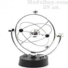 Люлката на Нютон-баланс на кинетична енергия
