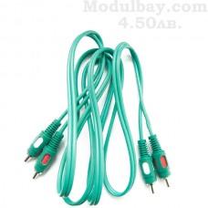 Аудио кабел стерео тип чинч-чинч