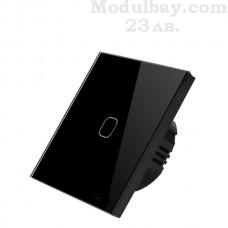 Сензорен ключ за осветление едноканален черен