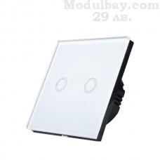 Сензорен ключ за осветление двуканален бял