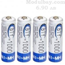 Акумулаторни батерии NiMh 1000 mAh-4 бр.