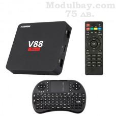 TV BOX V88 Mars (1GB RAM/8GB ROM) с безжична клавиатура и дистанционно