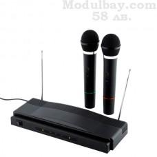 Безжичен микрофон-Система с 2 микрофона