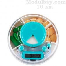Кутия за лекарства с таймер и аларма