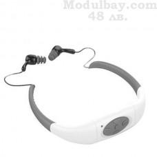Слушалки за плуване с mp3 плеър и FM радио