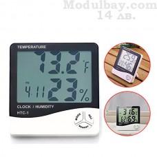 Цифров часовник с термометър и влагомер